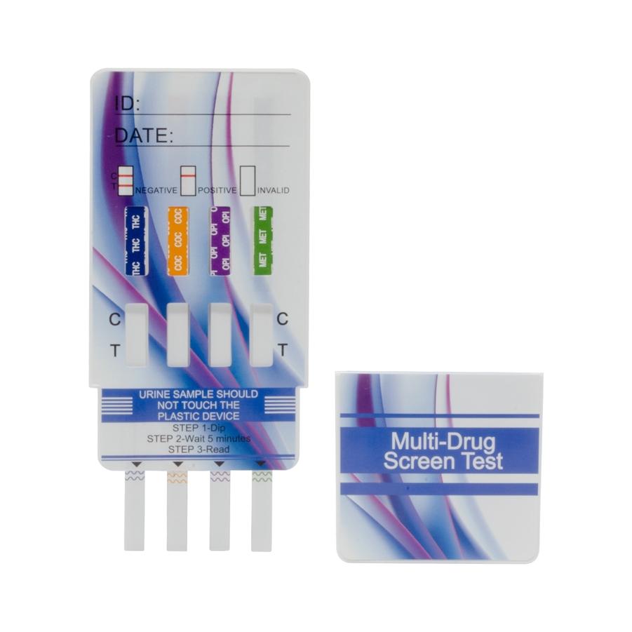 Drug Test Kits >> 4 Panel Drug Test Card