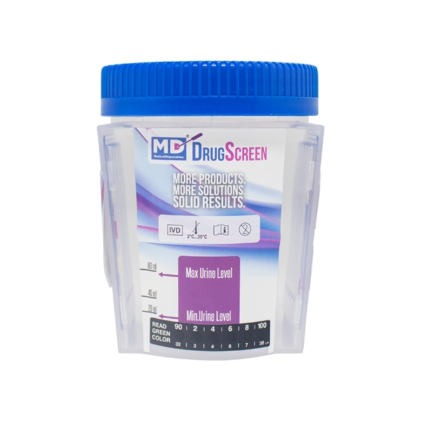MD DrugScreen 12 Panel Test Cup W/ 6 Adulterants